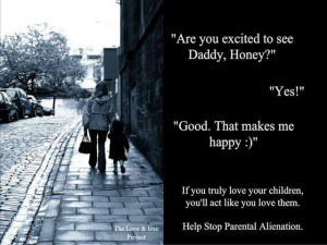 ... the relationship between the other parent & the child in word & action