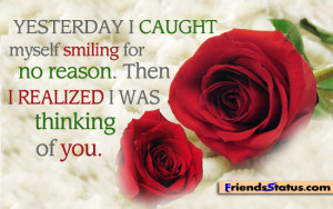 Missing you quotes – I was thinking of you