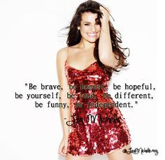 ... Brunette Ambition Quotes, Glee Quotes, Lea Quotes, Lea Michele Quotes