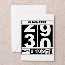 30th Birthday Oldometer Greeting Card for