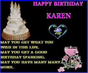 Happy Birthday Karen Image