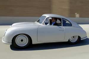 Leno and Seinfeld get coffee in 1949 Porsche Gmünd coupe
