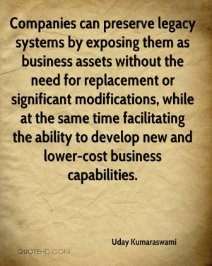 Companies can preserve legacy systems by exposing them as business ...