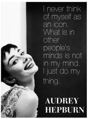 Inspirational Audrey Hepburn Quote