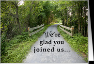 New Employee Welcome, Road to Success, Rural Scene card - Product ...