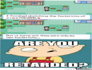 are you retarded dog meme