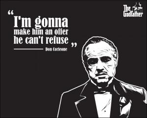 Godfather Wallpaper - Vito Corleone's Quote by astayoga