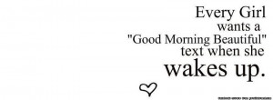 good morning text timeline cover every girl wants a good morning ...