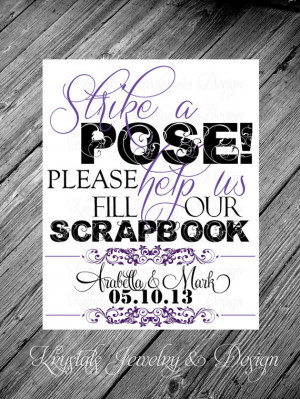 Strike A Pose, Photo Booth Reception Card with Personalized Couples ...