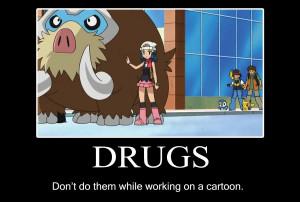 Pokemon drugs motivational poster
