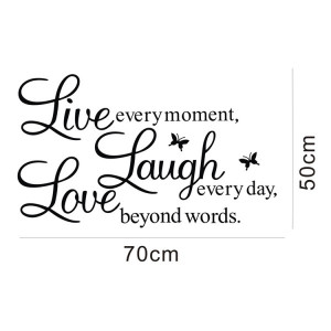 Cursive Live Laugh Love Quote