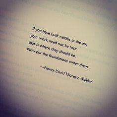 Henry David Thoreau, a famous Transcendentalist, shows the importance ...