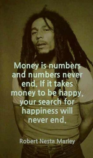 Money will not make you happy