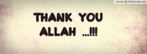 Thank You Allah Profile Facebook Covers