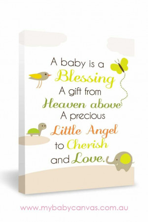 Blessing Baby Quote Canvas Design | My Baby Canvas | Rectangle