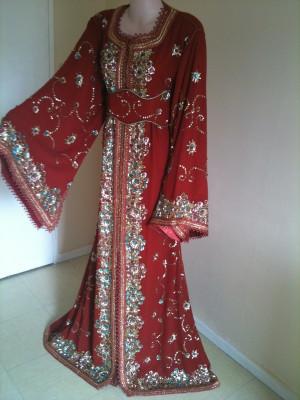 marocain modeles sublimes elja_fr@yahoo.fr, takchita sari rouge brique ...