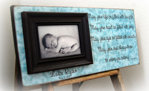Godparents Gift Personalized Custom Picture Frame Baby