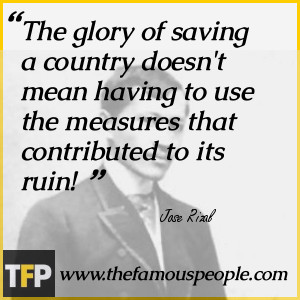 The glory of saving a country doesn