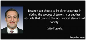 Lebanon can choose to be either a partner in ridding the scourge of ...