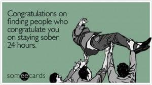 Sober congratulations e-card