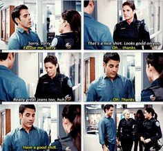 Rookie Blue: episode 4: McSwarek moment Ahaha could not stop laughing ...