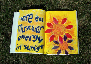 sunlight in an art journal