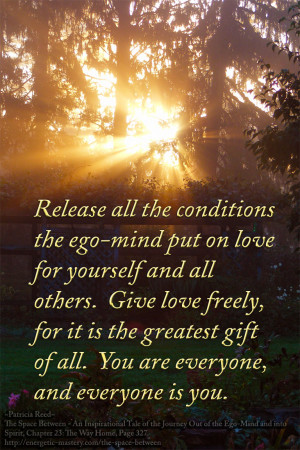 the ego-mind put on love for yourself and all others. Give love freely ...