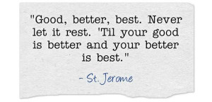 Saint Jerome says...
