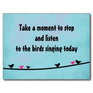 Singing Quotes Postcards