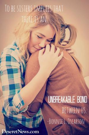 ... bond between us.