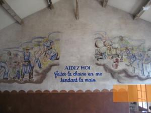 Les Milles, 2008, Wandgemälde mit einem Zitat des Marschall Pétain ...