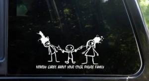 Crazy family car stickers08 Funny: Crazy family car stickers