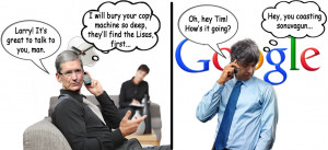 Tim Cook & Larry Page Reportedly Discuss Patents