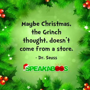 quotes about giving and sharing | Christmas Quote from Dr. Seuss ...