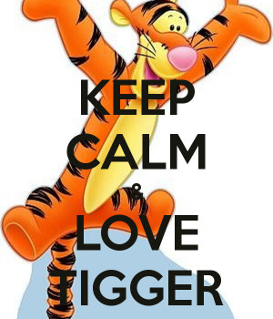 tigger bouncing tigger i love you valentine tigger is a freak so what