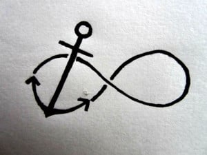 drawing forever Jesus tattoo infinity ocean sea Bible faith anchor ...