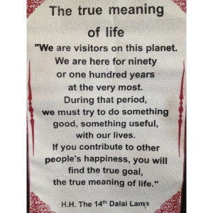 ... Lama Quotes Wall Hangings > Dalai Lama Quote