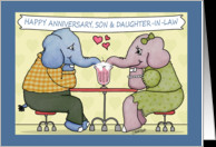 Happy Anniversary to Son and Daughter-in-law-Elephants Share Milkshake ...