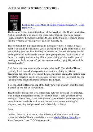 best friend maid of honor speech examples