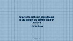 is the art of producing in the mind of the enemy the fear to attack
