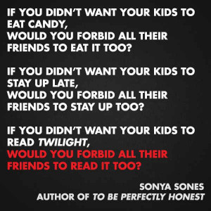 Sonya Sones -11 quotes from Authors on Censorship & Banned Books - # ...