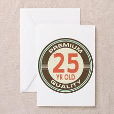 25th Birthday Vintage Greeting Card for