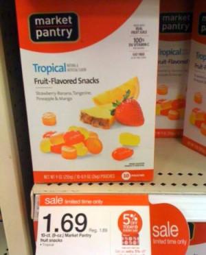Target Market Pantry Fruit Snacks