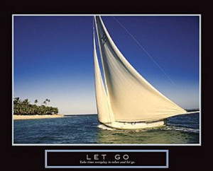 Let Go Sailboat Poster 28x22