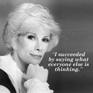 joan rivers tells it like it is