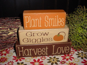 These rustic Thanksgiving Blocks from Simple Block Sayings would be ...