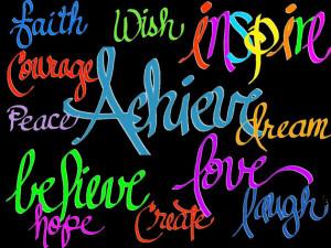 Inspirational Clip Art Clipart - inspirational words