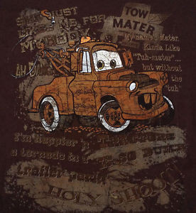 Disney-Store-Pixar-Cars-TOW-MATER-Quotes-SMALL-T-Shirt-Holy-Shoot-Ah ...