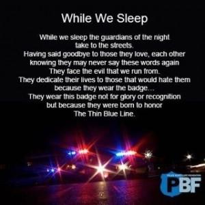 Thin blue line. Police life
