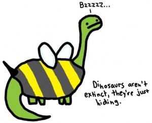 Those Sneaky Dinosaurs... - Image